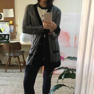 MIU MIU Striped Long Cardigan Sweater XS S